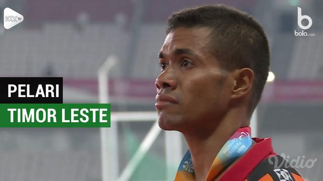 Berita video mengenai pelari Timor Leste mendapatkan medali emas pertama dari cabang olahraga Atletik di Asian Para Games 2018, Rabu (10/10/2018).