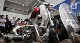 Onderdil motor Harley Davidson yang diselundupkan menggunakan pesawat baru milik Garuda Indonesia saat konferensi pers di Kementerian Keuangan, Jakarta, Kamis (5/12/2019). Harga motor Harley Davidson keluaran tahun 1970-an tersebut mencapai Rp 800 juta per unitnya. (merdeka.com/Iqbal S Nugroho)