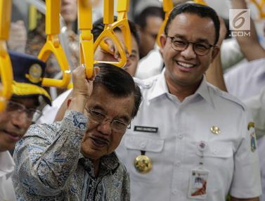 Wapres Kalla Tinjau MRT Jakarta