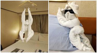 Kreasi Kreatif Saat Menata Handuk di Hotel Ini Bikin Kagum