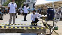 Presiden Jokowi meninjau sejumlah kegiatan pembangunan prasarana dan sarana pendukung KSPN Labuan Bajo (dok: PUPR)
