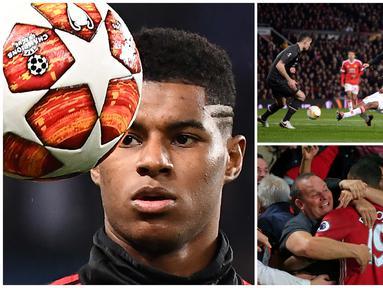 Marcus Rashford membuktikan janji setia untuk Manchester United dengan memperpanjang kontrak kerja hingga Juni 2023. (AFP)