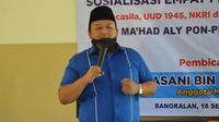 Anggota Komisi VIII DPR RI Hasani Bin Zuber saat acara sosialisasi empat pilar