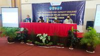 Para perwakilan tim pengendalian inflasi daerah di wilayah Priangan Timur, Jawa Barat tengah melakukan rapat koordinasi dan evaluasi mengenai capai ekonomi menjelang akhir tahun. (Liputan6.com/Jayadi Supriadin)