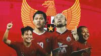 Timnas Indonesia - Marc Klok, Evan Dimas, Adam Alis, Witan Sulaeman (Bola.com/Adreanus Titus)