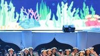 Panggung When You Wish Upon a Star oleh Disney. (Foto: Bambang E Ros)