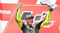 Pembalap Monster Energy Yamaha, Valentino Rossi, menjadi runner-up pada MotoGP Argentina di Termas de Rio Hondo, Senin (1/4/2019) dini hari WIB. (Twitter/Yamaha MotoGP)