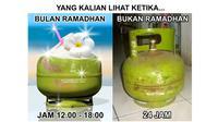 Es teh lebih segar kalau di bulan puasa (Sumber: Twitter/@siapasayaa_)