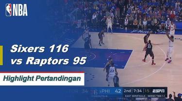Joel Embiid mencetak 28 poin dengan 10 rebound, empat blok dan tiga assist di Game 3 untuk memimpin 76ers atas Raptors, 116-92