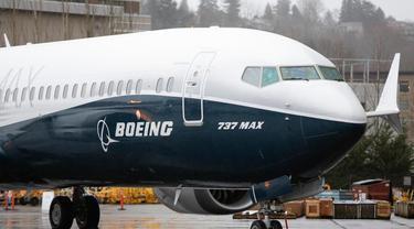 Ilustrasi pesawat Boeing 737 MAX (AFP Photo)