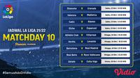 Jadwal dan Live Streaming Liga Spanyol Matchday 10 di Vidio Pekan Ini. (Sumber : dok. vidio.com)