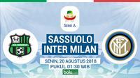 Serie A 2018/2019 Inter Milan Vs Sassuolo (Bola.com/Adreanus Titus)