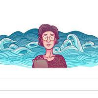 Katsuko Saruhashi muncul lewat Google Doodle hari ini (22/3/2018). (Sumber Foto: Google)