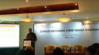 Diskusi bersama CIMB Niaga Syariah (Foto:Merdeka.com/Anggun P.Situmorang)