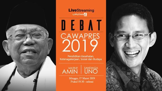 Debat Cawapres 2019 akan digelar 17 Maret 2019 di Hotel Sultan Jakarta. Saksikan live streaming Debat Cawapres 2019 hanya di Liputan6.com