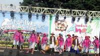 Festival Kampung Tani (FKT#4) di Kelurahan Temas, Kota Batu dihadiri banyak wisatawan yang kebetulan sedang weekend di Kota Batu.