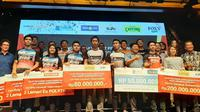 Djarum Foundation memberikan bonus kepada atlet-atletnya yang berprestasi, salah satunya Kevin Sanjaya, atas keberhasilan menjuarai Indonesia Open 2019. Penghargaan diberikan di Jakarat, Kamis (8/8/2019). (Bola.com/Yus Mei Sawitri)