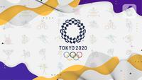 Banner Olimpiade Tokyo 2020. (Liputan6.com/Abdillah)