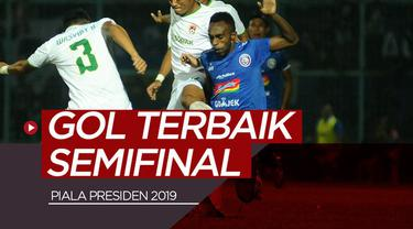 Berita video gol-gol terbaik yang tercipta pada semifinal Piala Presiden 2019.