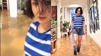 7 Gaya Yuni Shara saat Kebanjiran, Outfitnya Curi Perhatian  (sumber: Instagram.com/yunishara36)