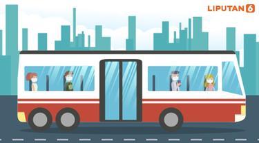 Banner Infografis 7 Cara Aman Naik Transportasi Publik Saat Pandemi. (Liputan6.com/Trieyasni)