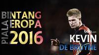 Gelandang andalan Belgia diprediksi akan bersinar di Piala Eropa 2016 berkat gol-gol cantik dan assistnya yang bersama Manchester City.