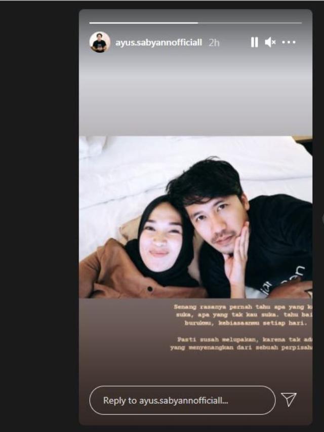 Digugat cerai istri Ayus Sabyan tulis isi hatinya di Instagram