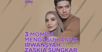 Bagaimana momen kebersamaan Irwansyah dan Zaskia Sungkar dalam belajar mengurus anak? Yuk, kita cek video di atas!