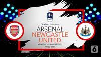 Arsenal vs Newcastle United (Liputan6.com/Abdillah)