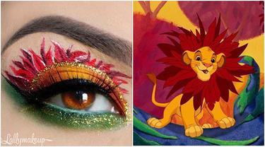 7 Potret Makeup Bibir dan Mata yang Terinspirasi Karakter Disney