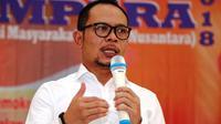 Menteri Ketenagakerjaan M. Hanif Dhakiri saat membuka Konsolidasi Nasional Aliansi Masyarakat Pekerja Nusantara (Ampera) pada Jumat (5/10).