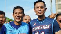 Sandiaga Uno dan Agus Harimurti Yudhoyono (AHY) berolahraga bersama jelang Debat Calon Wakil Presiden (Cawapres), 17 Maret 2019. (dok. Instagram @sandiuno/https://www.instagram.com/p/BvF97F8BPgg/Asnida Riani)