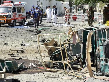 Ledakan di Kantor Polisi Pakistan