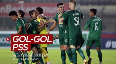 Berita video gol-gol yang mengantarkan PSS ke semifinal Piala Menpora 2021.