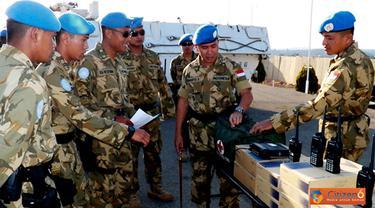 Citizen6, Lebanon: Gelar pasukan dan perlengkapan ini dimaksudkan untuk memastikan sejauh mana kesiapan personel dan perlengkapan yang ada dihadapkan dengan pelaksanaan operasional di daerah operasi baru. (Pengirim: Badarudin Bakri)