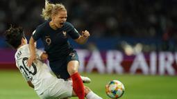 Pada laga perdana Prancis langsung tampil ganas dengan menghajar Korea Selatan dengan skor 4-0. (AFP/Lionel Bonaventure)