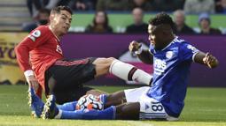 Berlaga di Stadion King Power, Cristiano Ronaldo dan kawan-kawan dipaksa menerima kekalahan dengan skor 4-2. (AP/Rui Vieira)