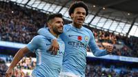 2. Sergio Aguero (Manchester City) - 8 Gol (2 Penalti). (AFP/Oli Scarff)