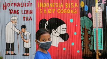Ketika Warga Kali Pasir Perangi Virus Corona dengan Pesan Mural