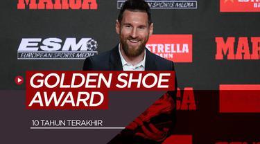 Berita video peraih penghargaan sepatu emas 10 tahun terakhir.