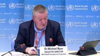 Direktur Eksekutif Program Kedaruratan World Health Organization (WHO) Michael Ryan dalam konferensi pers di Jenewa, Swiss pada Rabu (1/7/2020) (Tangkapan Layar siaran WHO)