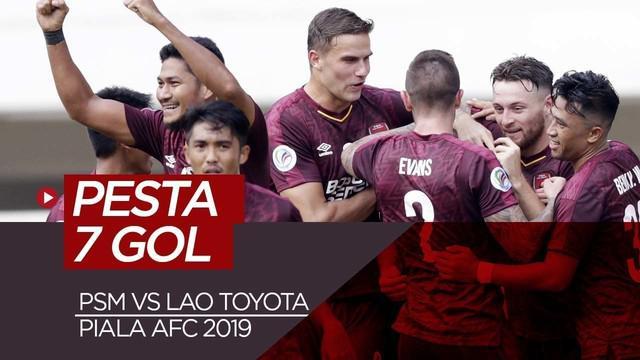 Berita video highlights grup H Piala AFC 2019 antara PSM Makassar melawan Lao Toyota yang berakhir dengan skor 7-3 di Stadion Pakansari, Bogor, Rabu (13/3/2019).