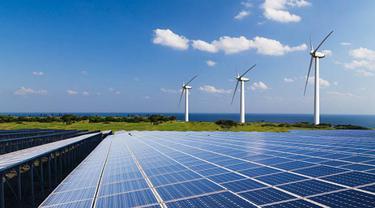 Ilustrasi energi bersih dan terbarukan