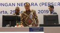 Dirut PT BTN, Maryono bersiap mengikuti RUPSLB di Menara Bank BTN, Jakarta, Kamis (29/8/2019). Selain menyetujui akuisisi PMV, RUPSLB juga menyetujui perubahan susunan direksi dengan mengangkat Suprajarto sebagai dirut BTN dan memberhentikan Maryono sebagai dirut BTN. (Liputan6.com/Angga Yuniar)