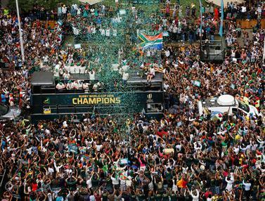 Semarak Parade Kemenangan Timnas Rugby Afrika Selatan