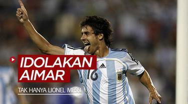 Berita video para pesepak bola dunia yang mengidolakan Pablo Aimar, termasuk Lionel Messi dan David Silva.