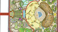 Denah Taman Quran yang sedang dibangun di Dubai. (Sumber istimewa)