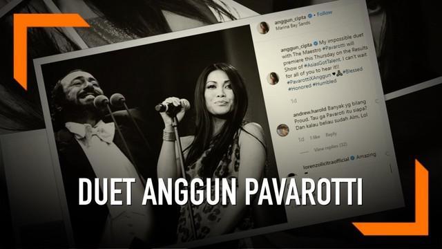 Anggun akan berduet dengan mendiang Luciano Pavarotti dalam final Asia's Got Talent pada 11 April 2019. Duet tersebut akan dilakukan secara virtual.
