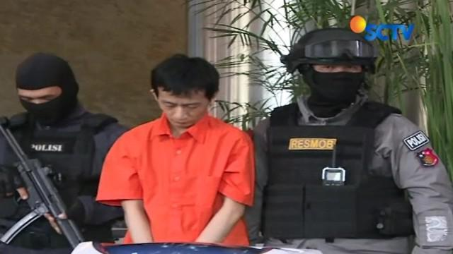 Pengedar narkotika jaringan internasional Malaysia-Indonesia, ditangkap Tim Satgassus Polri Bersama Polda Metro Jaya, di kawasan Pergudangan, Dadap, Kota Tangerang, Banten.