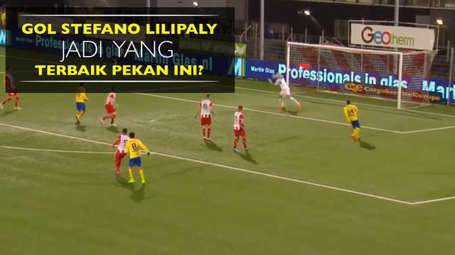 Berita video gol pemain naturalisasi Indonesia, Stefano Lilipaly, sementara menjadi yang paling banyak dipilih pekan ini di Liga Belanda II.